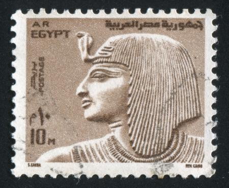 EGYPT - CIRCA 1973: stamp printed by Egypt, shows Fresco of Pharaoh, circa 1973 photo