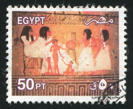 EGYPT - CIRCA 2000: stamp printed by Egypt, shows Pharaoh, circa 2000 photo
