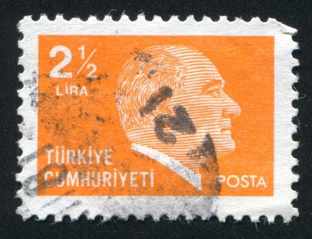 ataturk: TURKEY - CIRCA 1979: stamp printed by Turkey, shows president Kemal Ataturk, circa 1979.