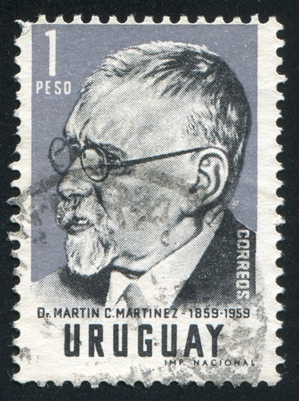 martinez: URUGUAY - CIRCA 1959: stamp printed by Uruguay, shows Martin Martinez, circa 1959