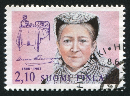 FINLAND - CIRCA 1992:  stamp printed by Finland, shows  Aurora Karamzin, circa 1992 Stock Photo - 13893479