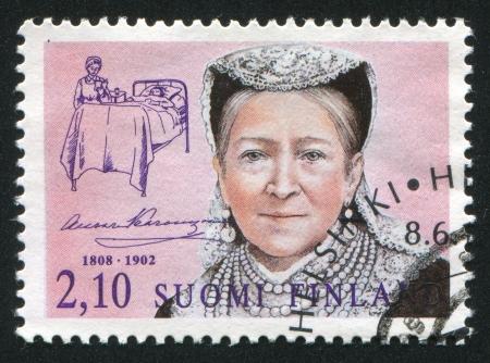 FINLAND - CIRCA 1992:  stamp printed by Finland, shows  Aurora Karamzin, circa 1992 Stock Photo - 13893479
