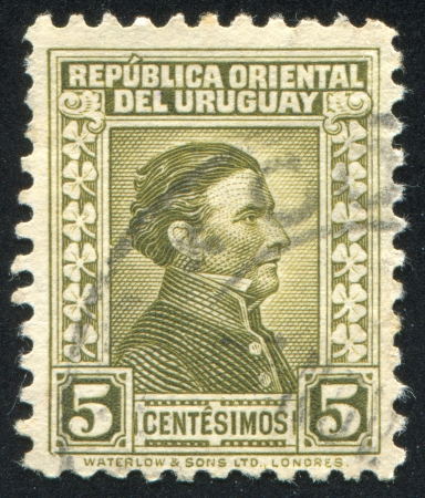 URUGUAY - CIRCA 1928: stamp printed by Uruguay, shows Jose Gervasio Artigas, circa 1928 Stock Photo - 13893440