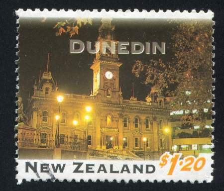 NEW ZEALAND - CIRCA 1995: stamp printed by New Zealand, shows New Zealand at Night, Dunedin, circa 1995 photo