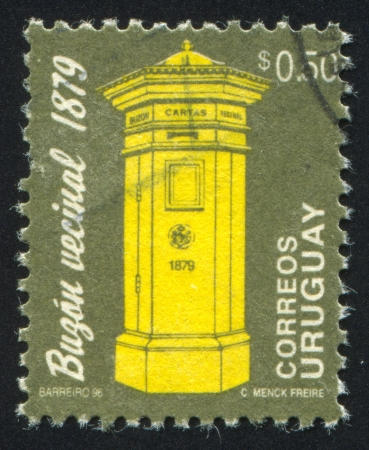 URUGUAY - CIRCA 1993: stamp printed by Uruguay, shows Letter Box, circa 1993 photo