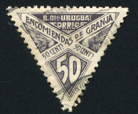 URUGUAY - CIRCA 1929: stamp printed by Uruguay, shows Graphic Design, circa 1929 Stock Photo - 13892255