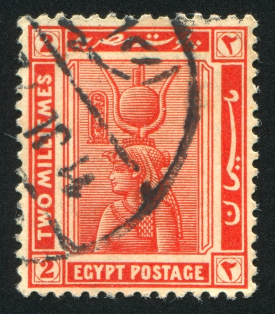 EGYPT - CIRCA 1922: stamp printed by Egypt, shows Cleopatra, circa 1922 photo