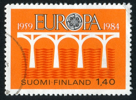 FINLAND - CIRCA 1984: stamp printed by Finland, shows Bridge, circa 1984 photo