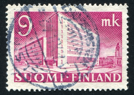 FINLAND - CIRCA 1939: stamp printed by Finland, shows Helsinki Post Office, circa 1939 Stock Photo - 13981257