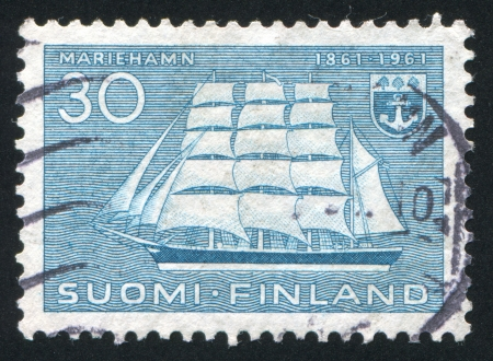 FINLAND - CIRCA 1960: stamp printed by Finland, shows Ship Pommern, circa 1960 photo