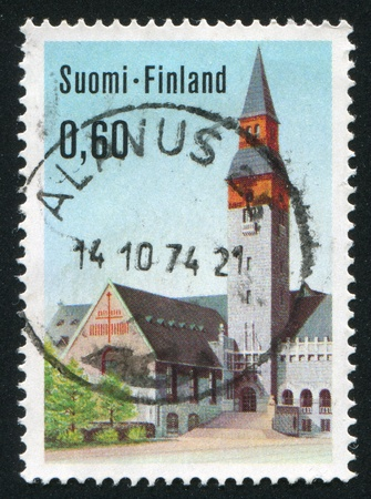 consuetude: FINLAND - CIRCA 1973: stamp printed by Finland, shows National Museum in Helsinki, circa 1973