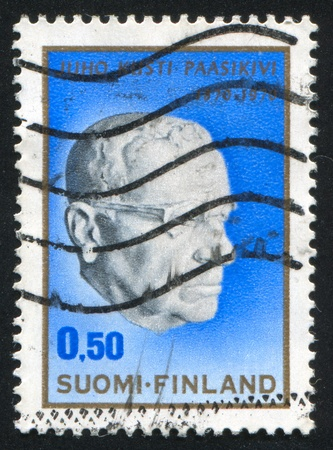 FINLAND - CIRCA 1970: stamp printed by Finland, shows President Paasikivi, by Essi Renavall, circa 1970 Stock Photo - 14136957