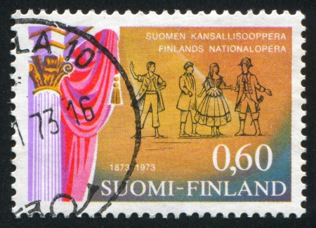 FINLAND - CIRCA 1973: stamp printed by Finland, shows The Barber of Seville, circa 1973 Stock Photo - 13981841