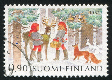 FINLAND - CIRCA 1982: stamp printed by Finland, shows Christmas, circa 1982 photo