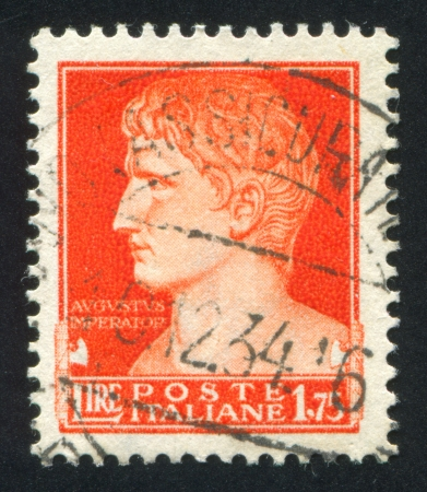 ITALY - CIRCA 1945: stamp printed by Italy, shows Augustus Caesar, circa 1945 Stock Photo - 14136980