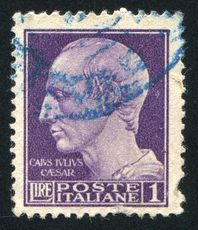 ITALY - CIRCA 1944: stamp printed by Italy, shows Julius Caesar, circa 1944 Stock Photo - 14137023