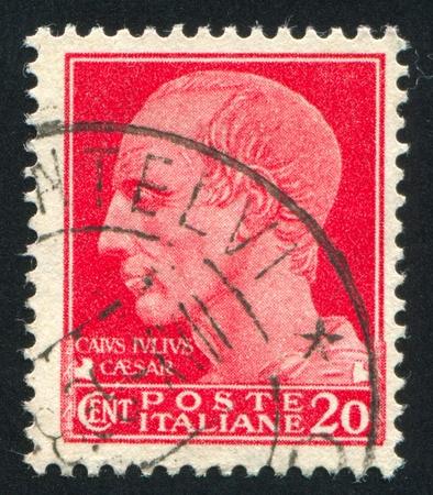 ITALY - CIRCA 1944: stamp printed by Italy, shows Julius Caesar, circa 1944 Stock Photo - 14137048