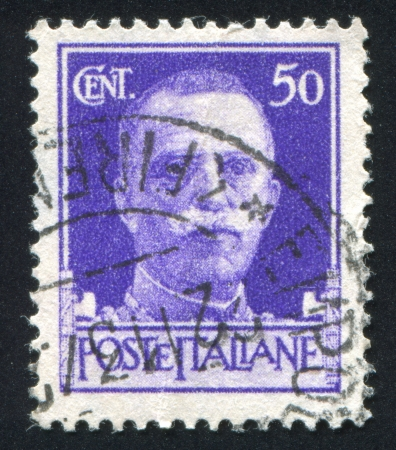 ITALY - CIRCA 1944: stamp printed by Italy, shows king Victor Emmanuel III, circa 1944 Stock Photo - 14136976