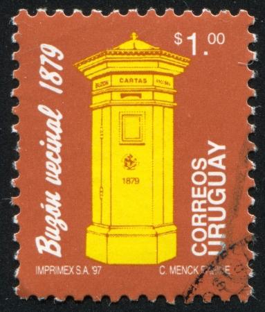 URUGUAY - CIRCA 1993: stamp printed by Uruguay, shows Letter Box, circa 1993 Stock Photo - 13980638