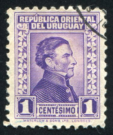 artigas: URUGUAY - CIRCA 1928: stamp printed by Uruguay, shows Jose Gervasio Artigas, circa 1928 Editorial
