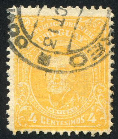 artigas: URUGUAY - CIRCA 1910: stamp printed by Uruguay, shows Jose Gervasio Artigas, circa 1910