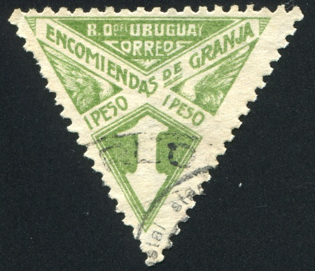 URUGUAY - CIRCA 1929: stamp printed by Uruguay, shows Graphic Design, circa 1929 Stock Photo - 13982893
