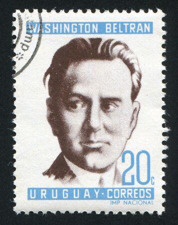 URUGUAY - CIRCA 1966: stamp printed by Uruguay, shows Washington Beltran, circa 1966 Stock Photo - 14136967