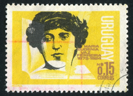 URUGUAY - CIRCA 1975: stamp printed by Uruguay, shows Maria Eugenia Vaz Ferreira, circa 1975 Stock Photo - 14137021