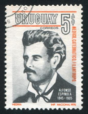 URUGUAY - CIRCA 1971: stamp printed by Uruguay, shows Alfonso Espinola, circa 1971 Stock Photo - 14136964
