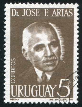 URUGUAY - CIRCA 1971: stamp printed by Uruguay, shows Jose Arias, Physician, circa 1971
