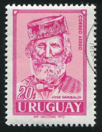 URUGUAY - CIRCA 1970: stamp printed by Uruguay, shows Giuseppe Garibaldi, circa 1970 Stock Photo - 14136960