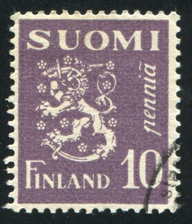 FINLAND - CIRCA 1930: stamp printed by Finland, shows Coat of arms of Finland, circa 1930 Stock Photo - 14105082