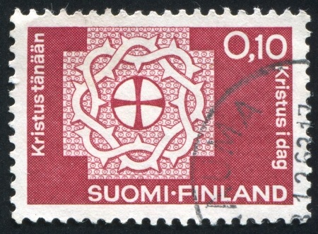 FINLAND - CIRCA 1963:  stamp printed by Finland, shows crown of thorns, circa 1963 photo