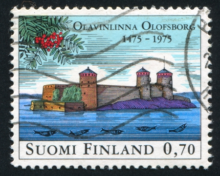 FINLAND - CIRCA 1975:  stamp printed by Finland, shows castle, circa 1975 photo