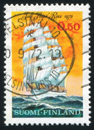 FINLAND - CIRCA 1972:  stamp printed by Finland, shows ship, circa 1972 photo