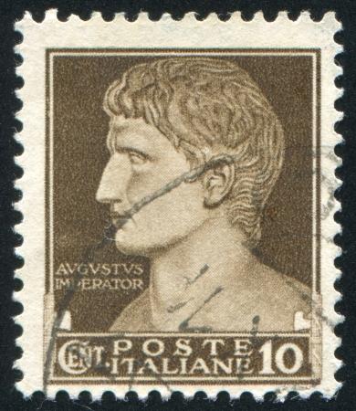 ITALY - CIRCA 1945: stamp printed by Italy, shows Augustus Caesar, circa 1945 Stock Photo - 14145623