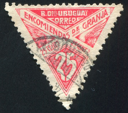 URUGUAY - CIRCA 1929: stamp printed by Uruguay, shows Graphic Design, circa 1929 Stock Photo - 14105235