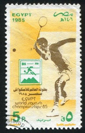 EGYPT - CIRCA 1985: stamp printed by Egypt, shows Sportsman (Squash), circa 1985