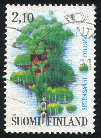 FINLAND - CIRCA 1991: stamp printed by Finland, shows Seurasaari Island, circa 1991 photo