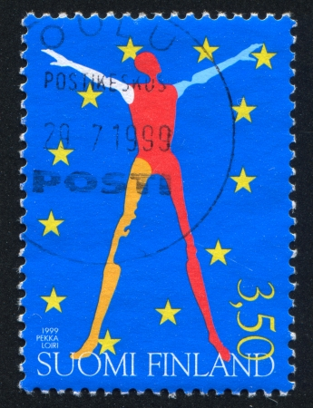 presidency: FINLAND - CIRCA 1999: stamp printed by Finland, shows Finlands Presidency of European Union, circa 1999