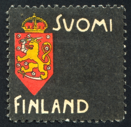 FINLAND - CIRCA 1963: stamp printed by Finland, shows Coat of Arms, circa 1963 Stock Photo - 14174924