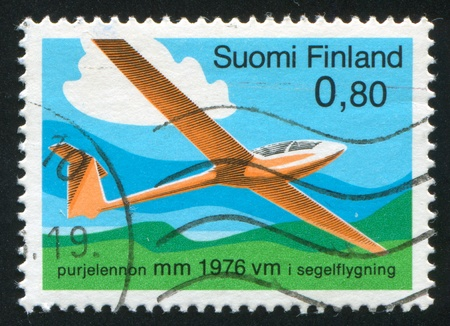 FINLAND- CIRCA 1976: stamp printed by Finland, shows glider, circa 1976 photo