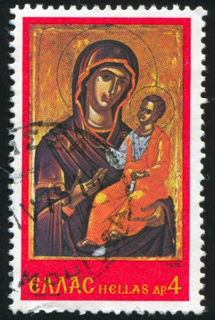 Greece - CIRCA 1978: stamp printed by Greece, shows Virgin and Child, circa 1978 Stock Photo - 14173754