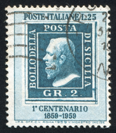 ITALY - CIRCA 1959: stamp printed by Italy, shows Stamp of Sicily, circa 1959 Stock Photo - 14174913