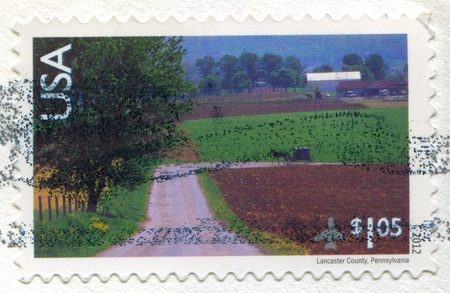 UNITED STATES - CIRCA 2012: stamp printed by United States, shows Lancaster County, Pennsylvania, circa 2012 photo