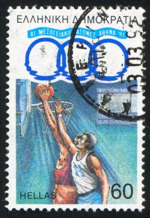 GREECE - CIRCA 1991: stamp printed by Greece, shows Basketball, circa 1991