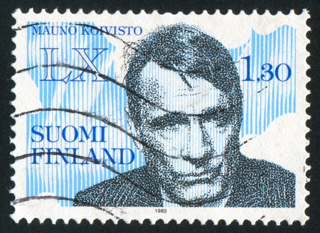 FINLAND - CIRCA 1983: stamp printed by Finland, shows President Mauno Henrik Koivisto, circa 1983 Stock Photo - 14174658