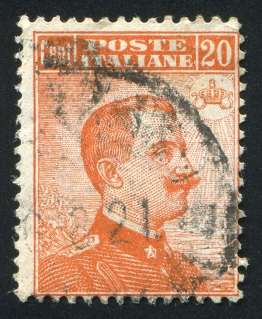 emmanuel: ITALY - CIRCA 1909: stamp printed by Italy, shows king Victor Emmanuel III, circa 1909 Editorial