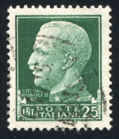 ITALY - CIRCA 1929: stamp printed by Italy, shows king Victor Emmanuel III, circa 1929 Stock Photo - 14174651
