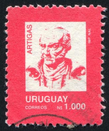 artigas: URUGUAY - CIRCA 1990: stamp printed by Uruguay, shows Jose Gervasio Artigas, circa 1990